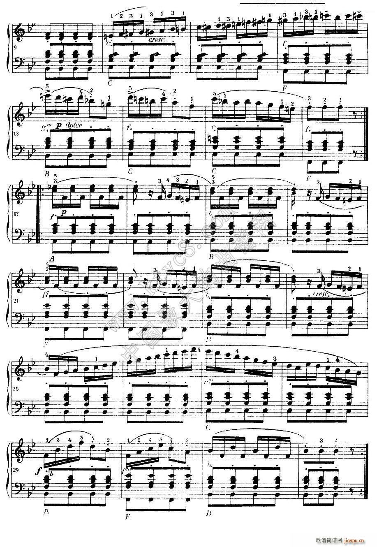车尔尼手风琴练习曲集 第Ⅰ册 22 36(手风琴谱)12