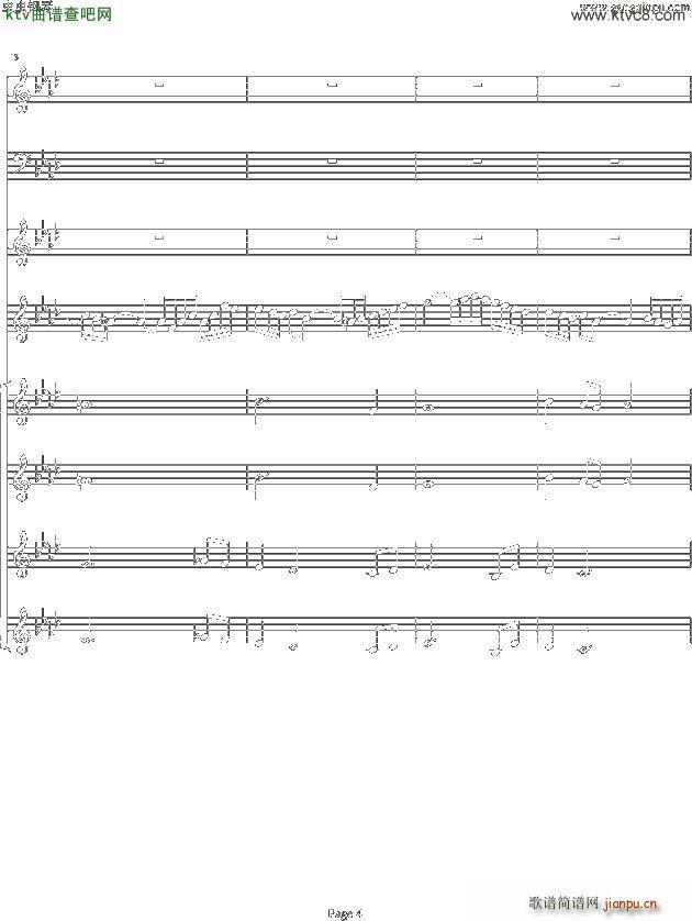 双童声协奏曲Concerto Pour Deux Voix 合唱版 Ab调 4
