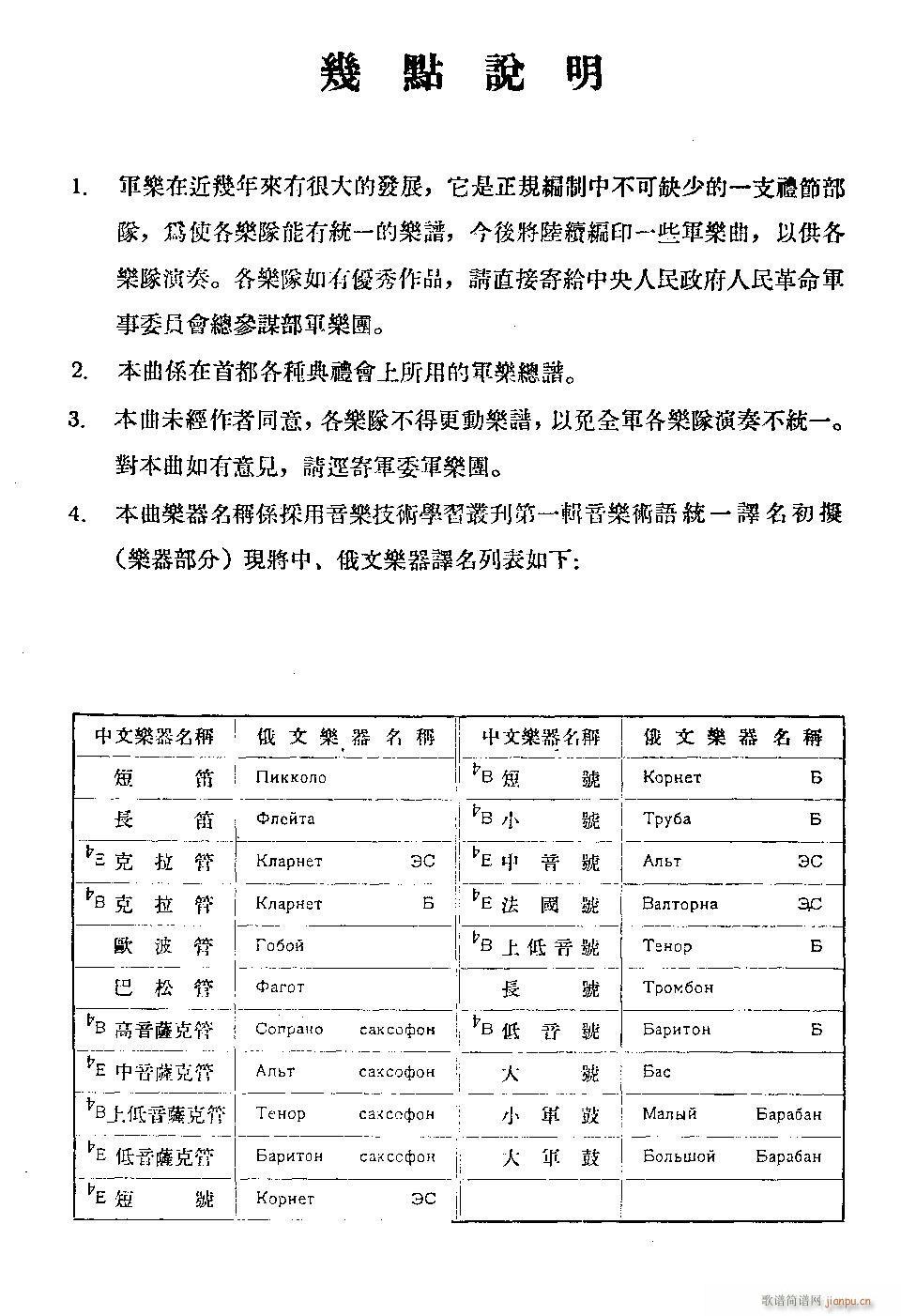 中华人民共和国国歌 军乐(总谱)5