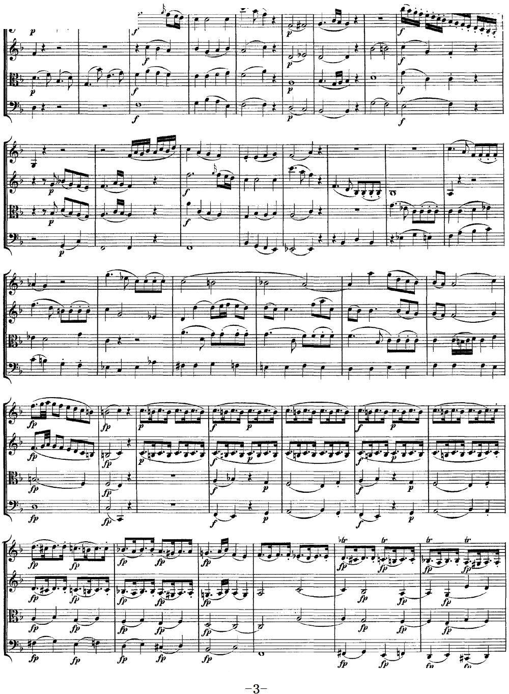 Mozart Quartet No 8 in F Major K 168(总谱)3