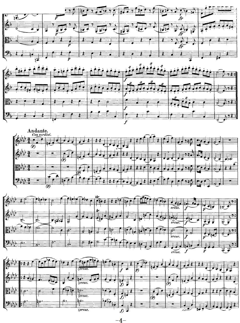 Mozart Quartet No 8 in F Major K 168 4