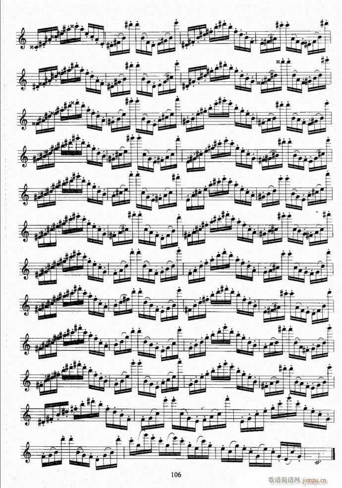 长笛考级教程101-140(笛箫谱)6