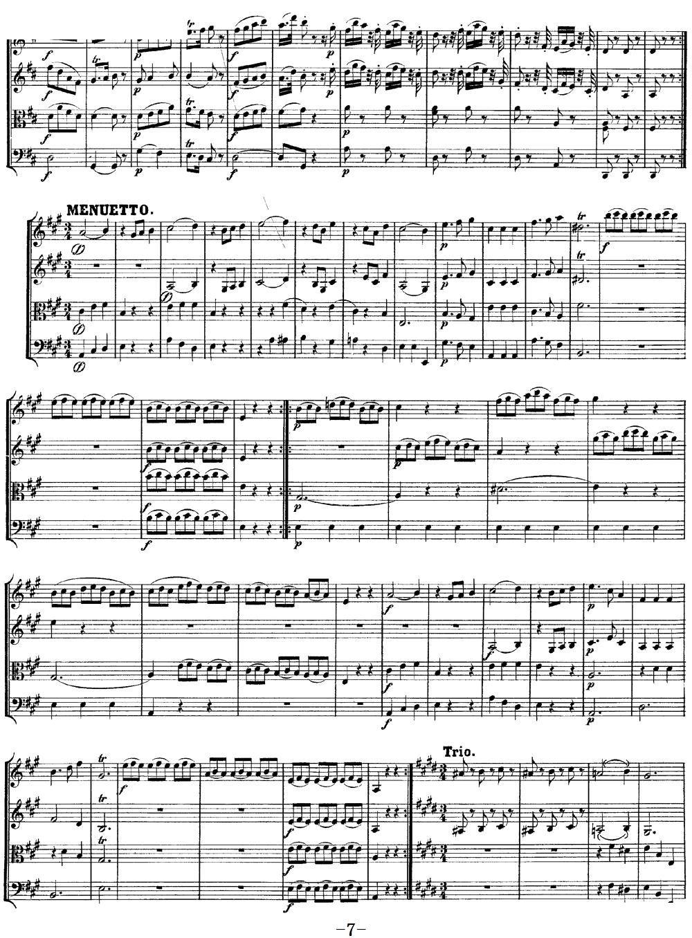 Mozart Quartet No 9 in A Major K 169(总谱)7