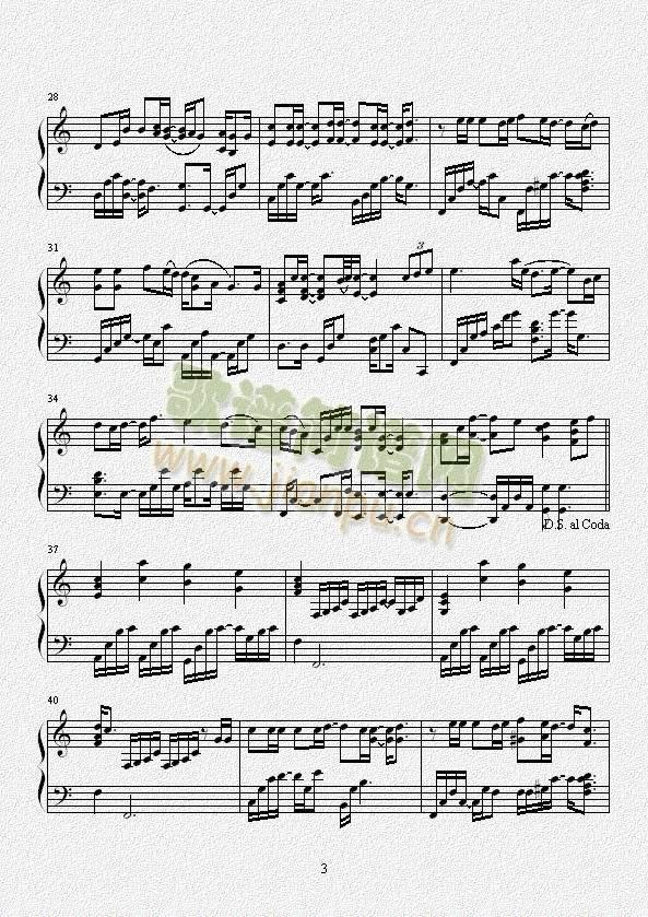 THANKSTO(钢琴谱)3