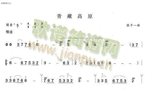 青藏高原(笛萧谱)1