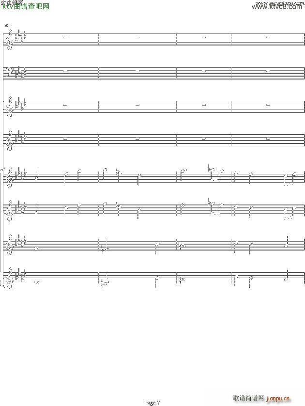 双童声协奏曲Concerto Pour Deux Voix 合唱版 Ab调(合唱谱)7