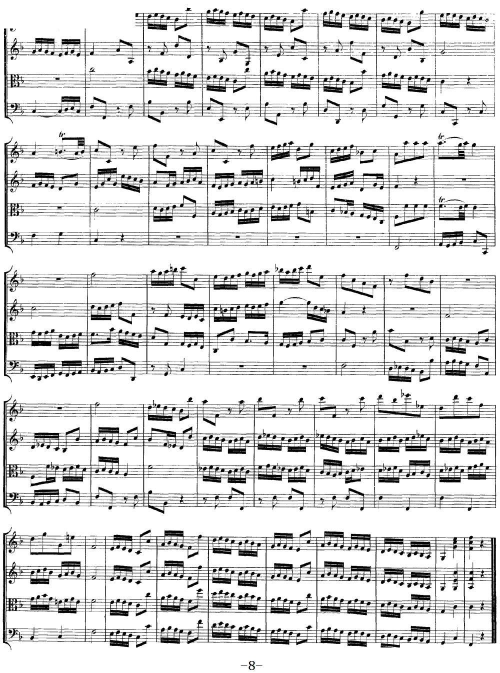 Mozart Quartet No 8 in F Major K 168(总谱)8