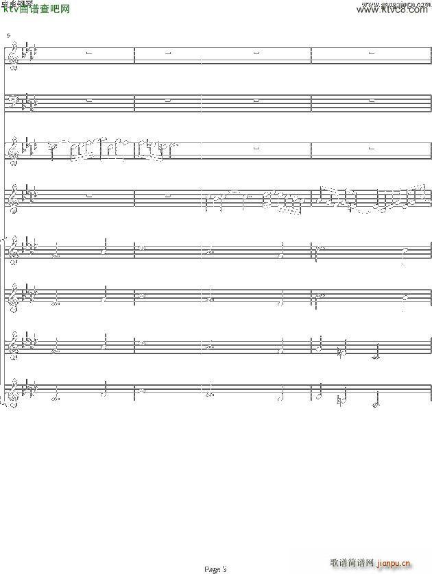 双童声协奏曲Concerto Pour Deux Voix 合唱版 Ab调(合唱谱)3