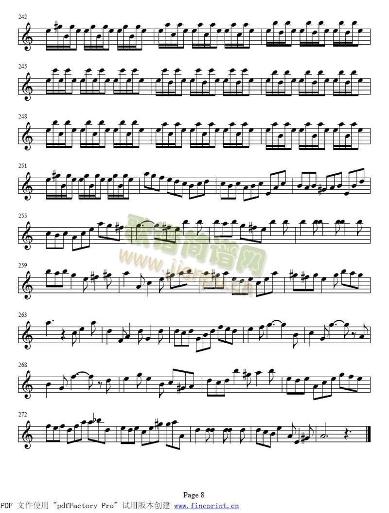 巴赫a小调小提琴协奏曲1-8(其他)8