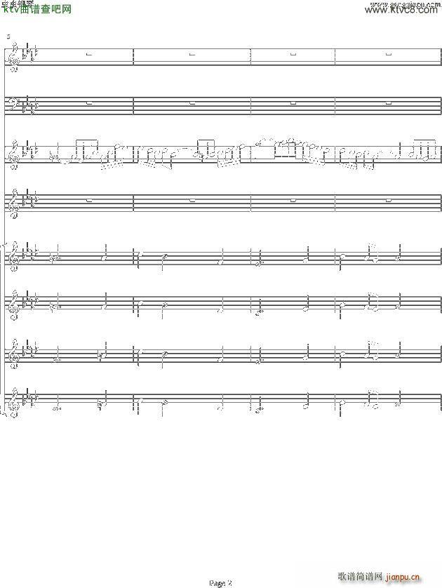 双童声协奏曲Concerto Pour Deux Voix 合唱版 Ab调 2