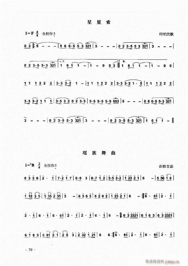 葫芦丝 巴乌实用教程 1 60(葫芦丝谱)11