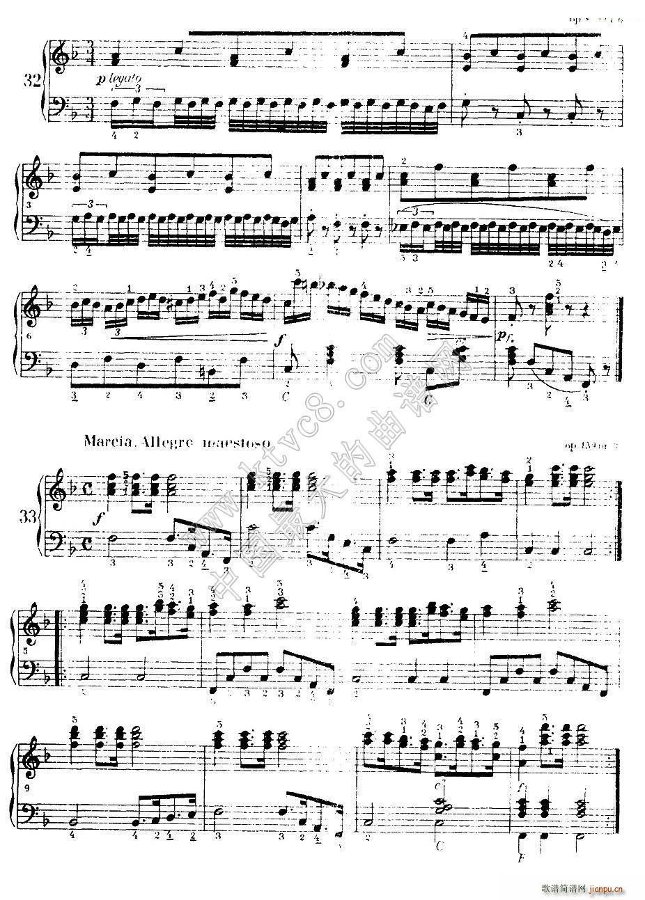 车尔尼手风琴练习曲集 第Ⅰ册 22 36(手风琴谱)9