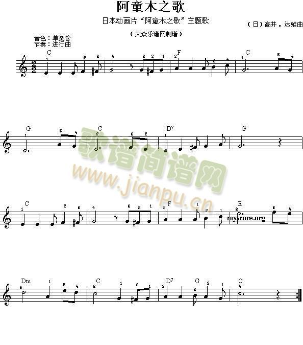 电子琴浅易练习之二十一(电子琴谱)1