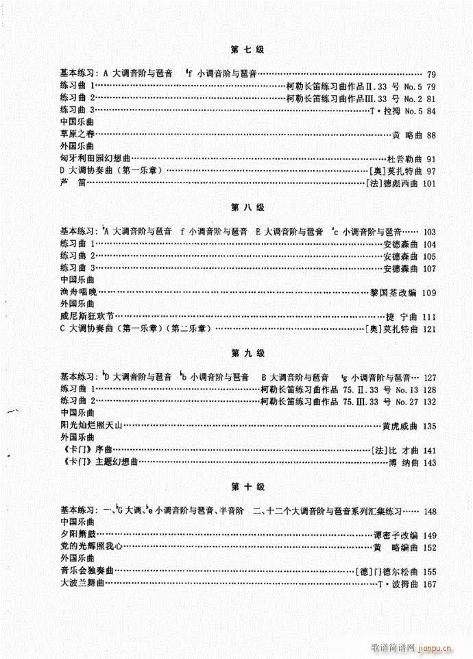 长笛考级教程目录1-20(笛箫谱)3