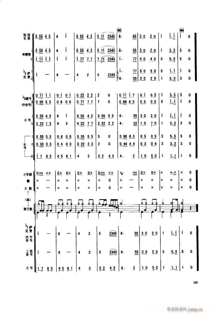 人民军队忠于党 管乐合奏(总谱)10