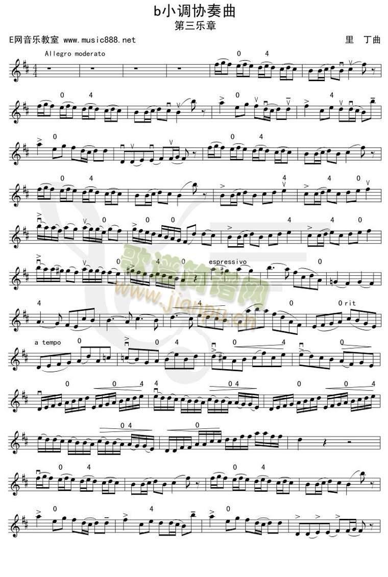 bB小调协奏曲-第三乐章(其他乐谱)1