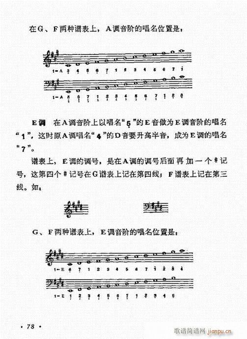 怎样识61-80(八字歌谱)18
