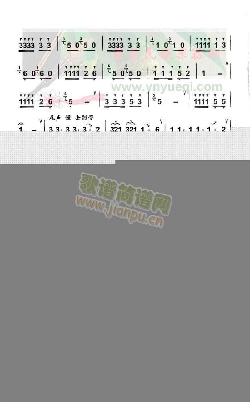 花开德昂山(葫芦丝谱)3