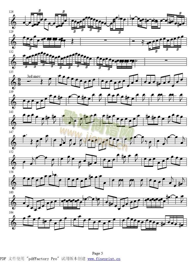 巴赫a小调小提琴协奏曲1-8(其他)5