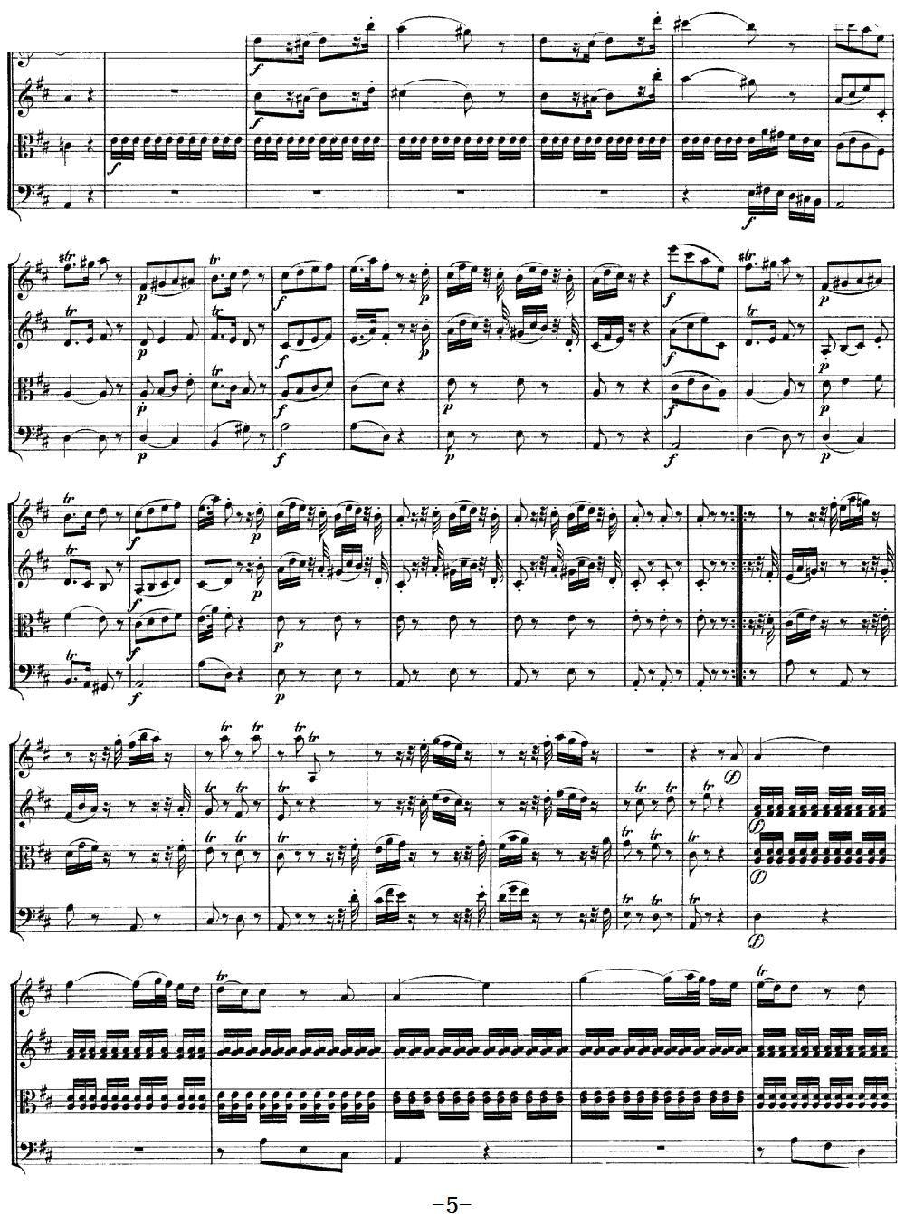 Mozart Quartet No 9 in A Major K 169(总谱)5