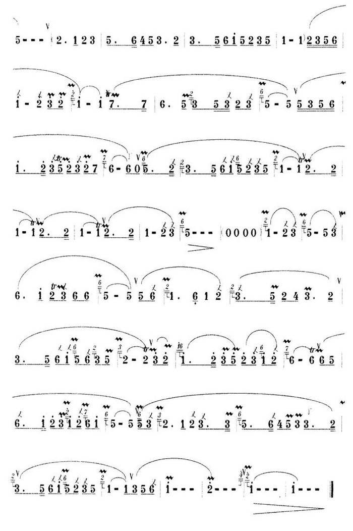中国乐谱网——【胡琴谱】松竹多情2