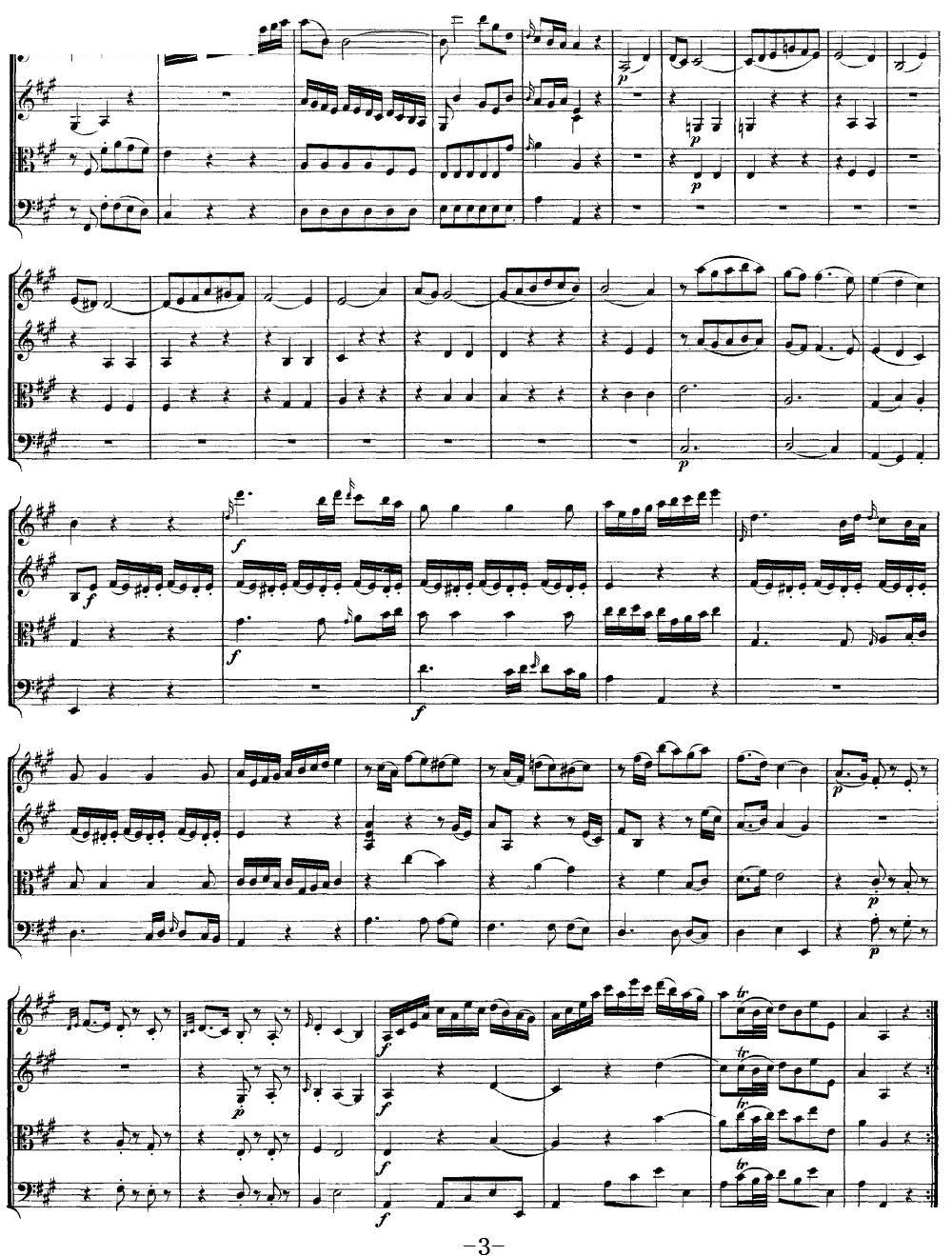 Mozart Quartet No 9 in A Major K 169(总谱)3