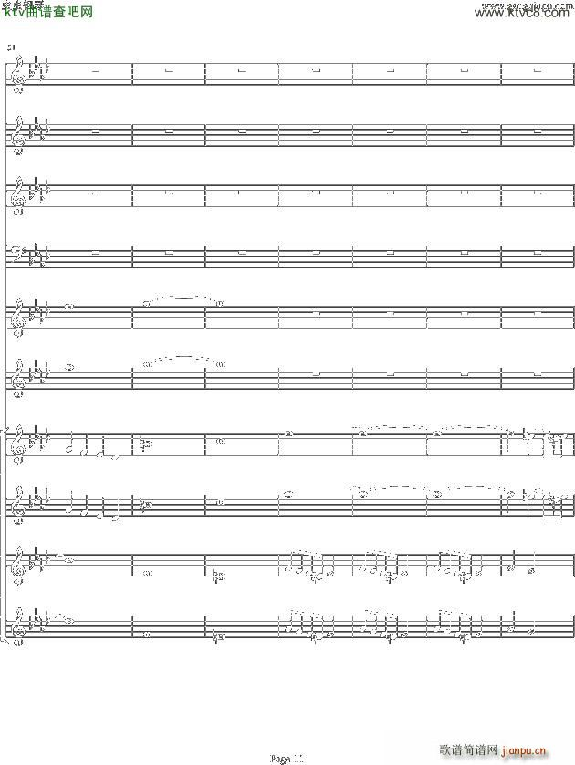 双童声协奏曲Concerto Pour Deux Voix 合唱版 Ab调(合唱谱)11