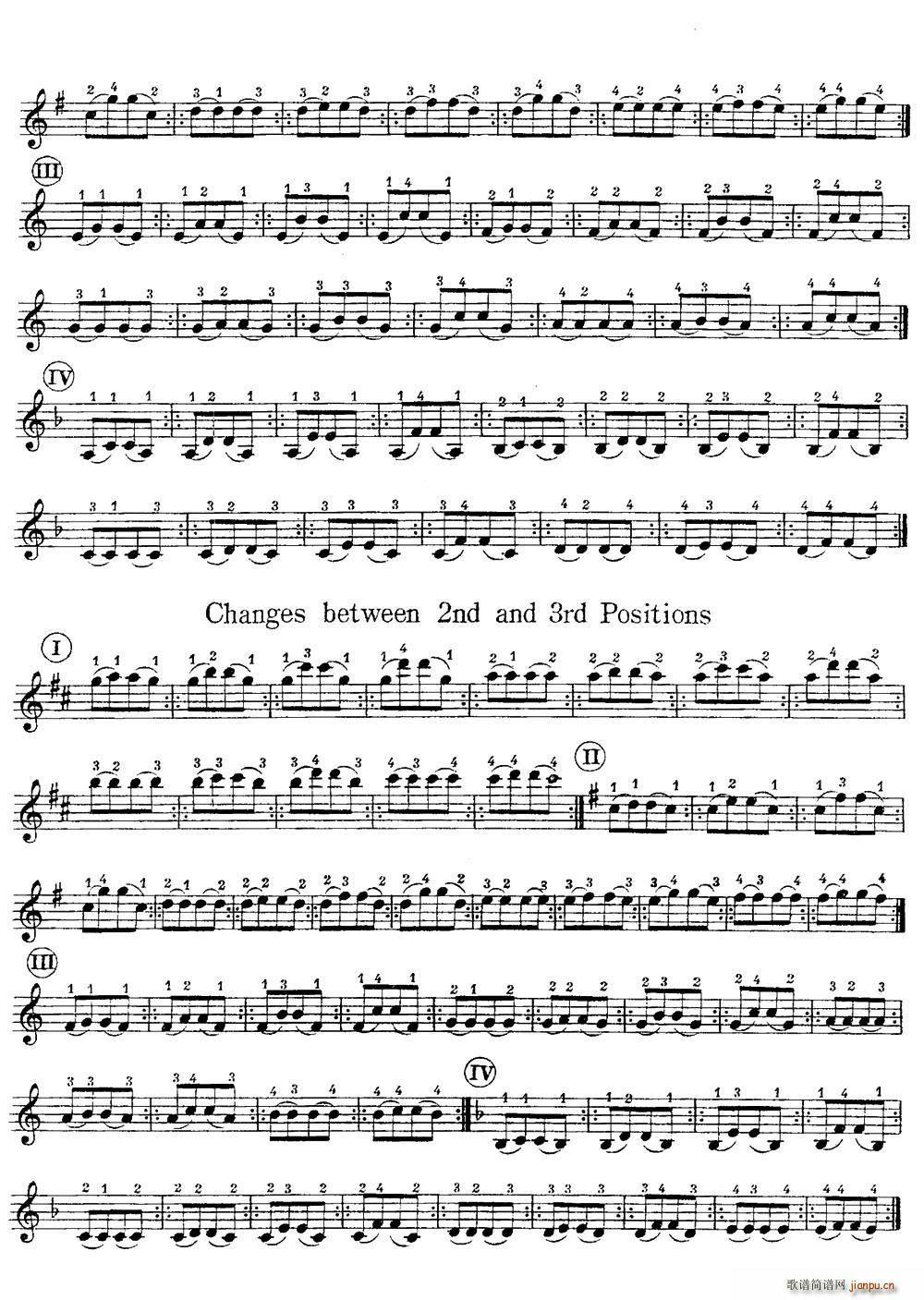 小提琴换把练习曲 第一部分 2