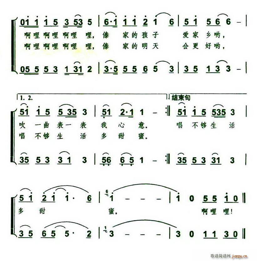 吹起葫芦丝(葫芦丝谱)3