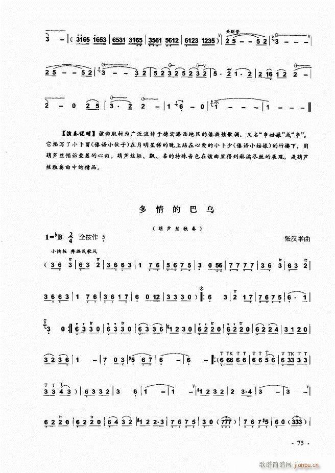 葫芦丝 巴乌实用教程 1 60(葫芦丝谱)16