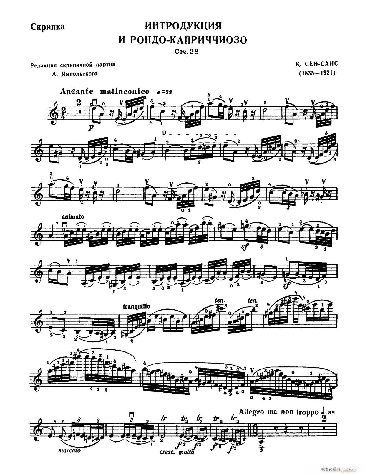引子与回响(小提琴谱)1