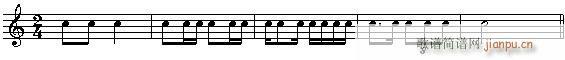 音乐高考必读—乐理应考速成 第四章有关的节拍的试题(十字及以上)6