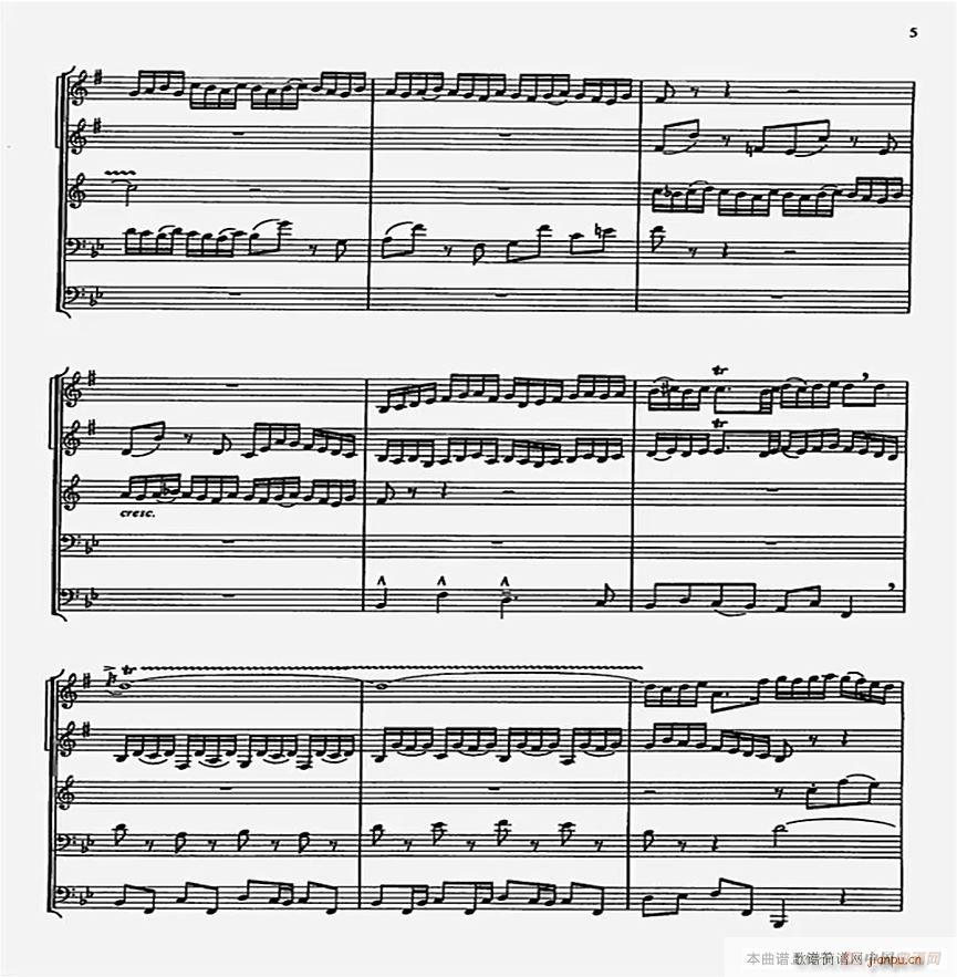 巴赫G小调赋格曲 小乐队(总谱)5