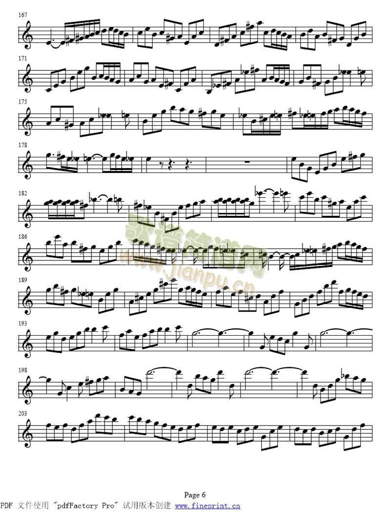 巴赫a小调小提琴协奏曲1-8(其他)6