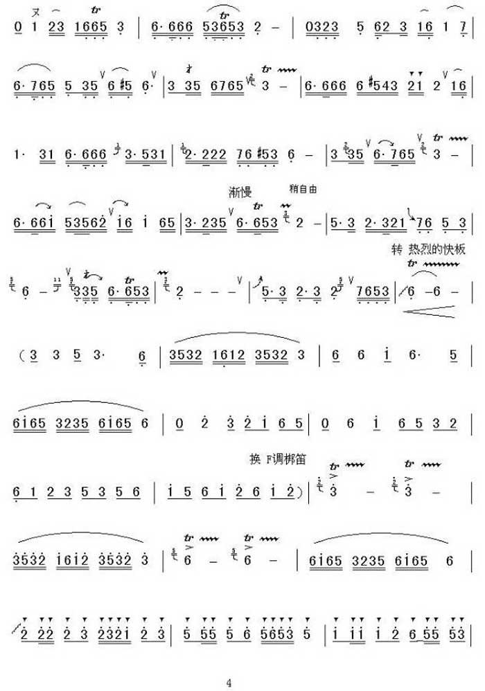 中国乐谱网——【笛箫曲谱】潇湘银河4