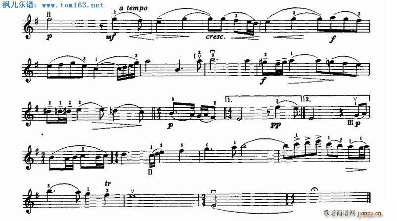 练声曲 拉赫马尼诺夫作曲 2