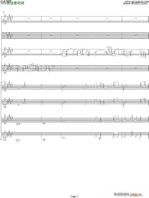 双童声协奏曲Concerto Pour Deux Voix 合唱版 Ab调(合唱谱)5
