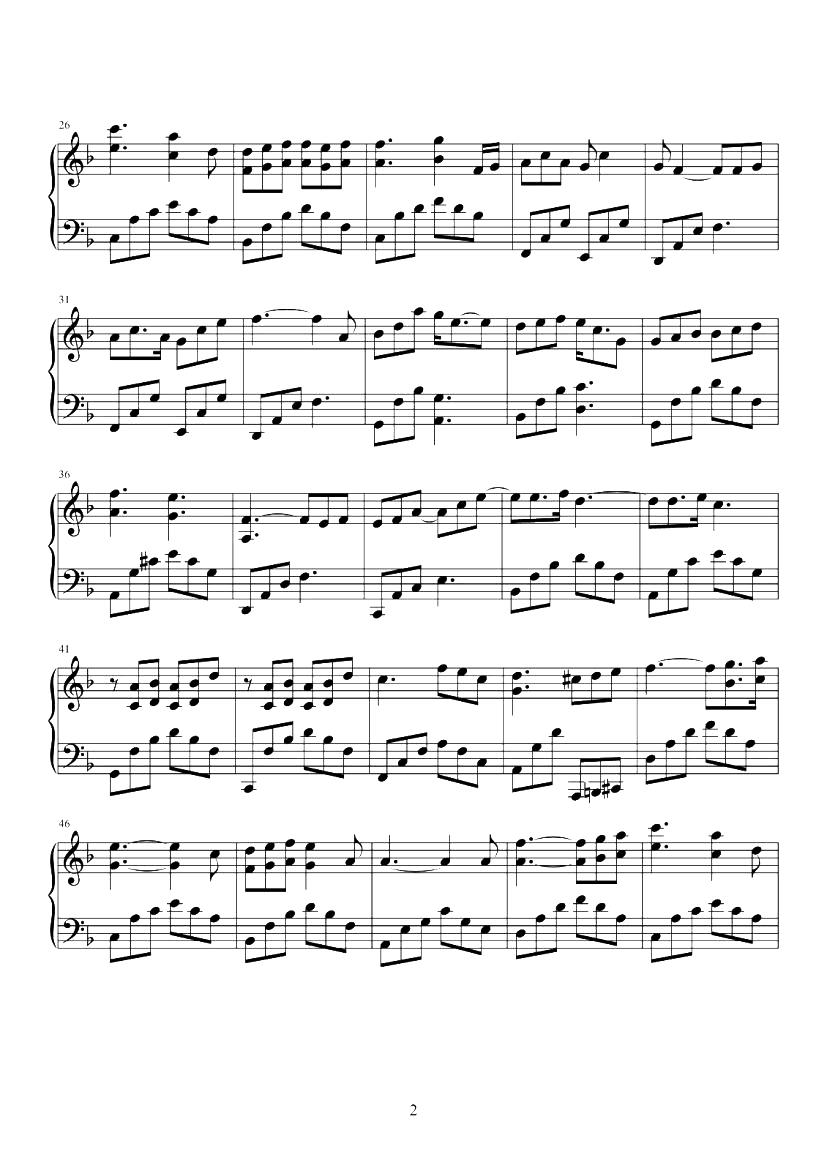 座位(电视剧《三十而已》片尾曲)钢琴谱
