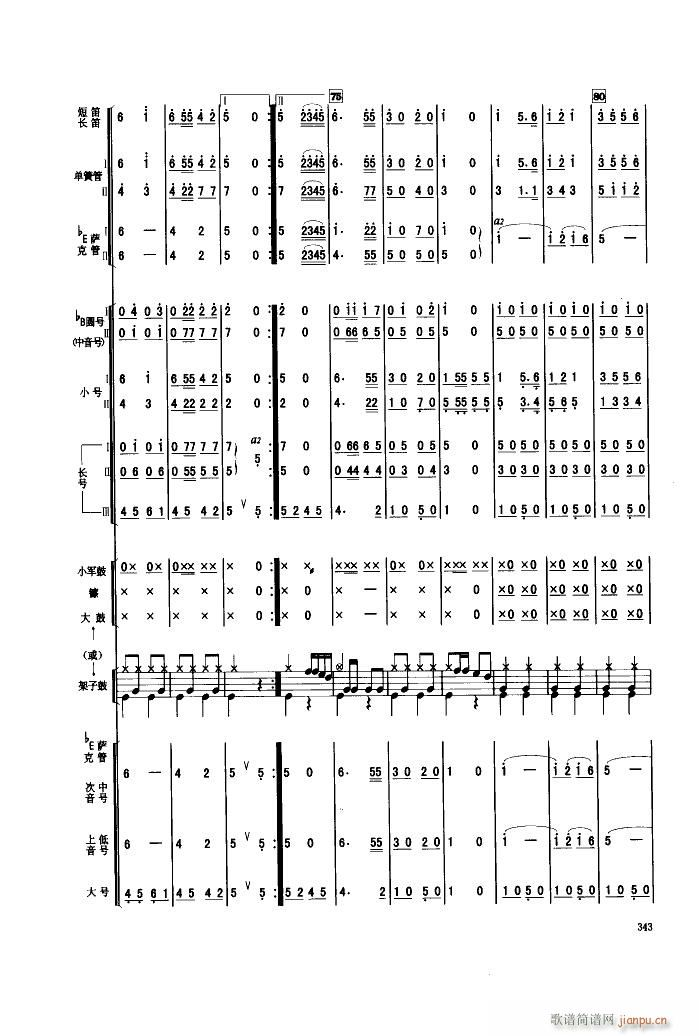 人民军队忠于党 管乐合奏(总谱)8