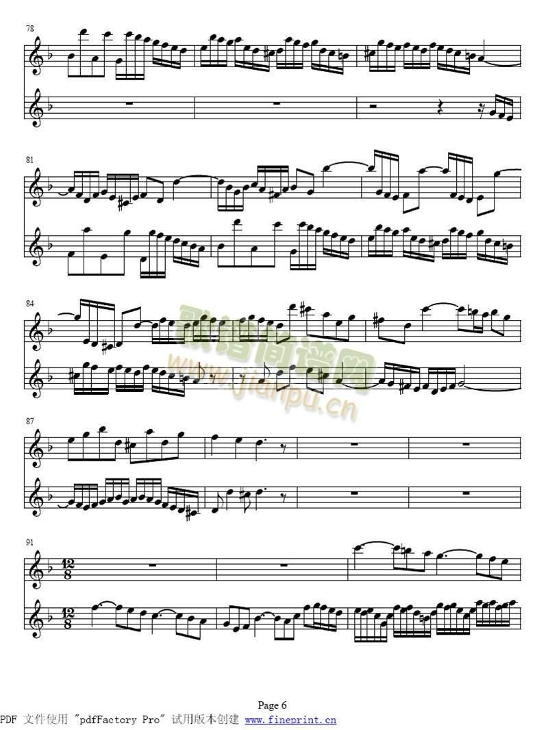 d小调两支小提琴协奏曲1-7(其他)6