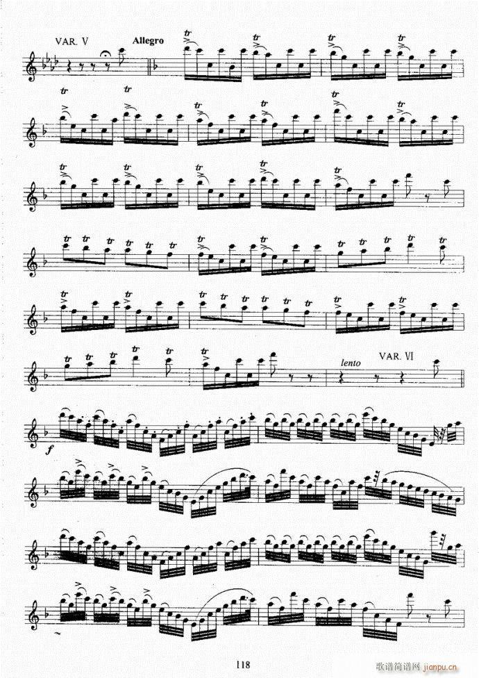 长笛考级教程101-140(笛箫谱)18